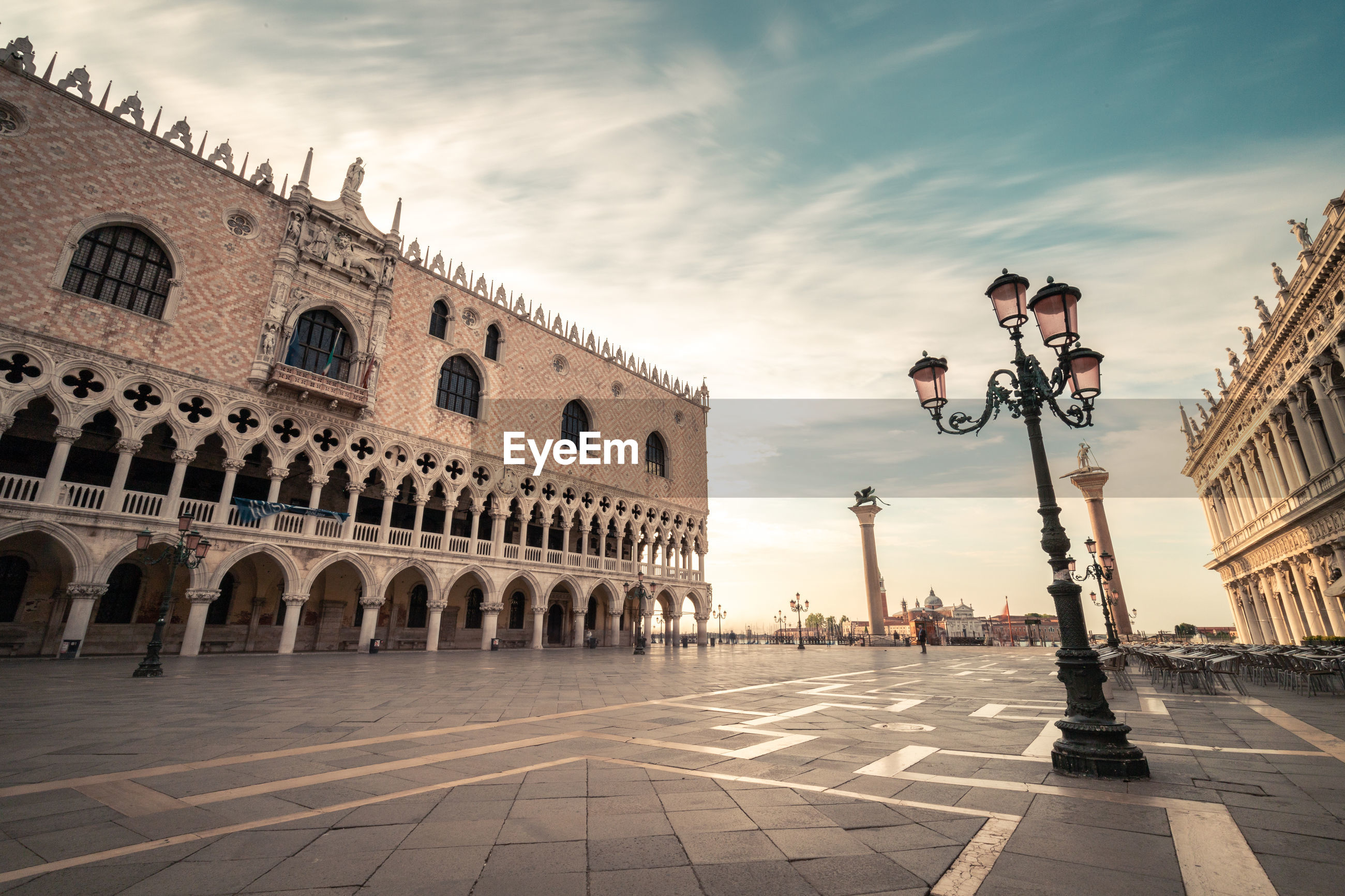 St mark square against sky during sunset