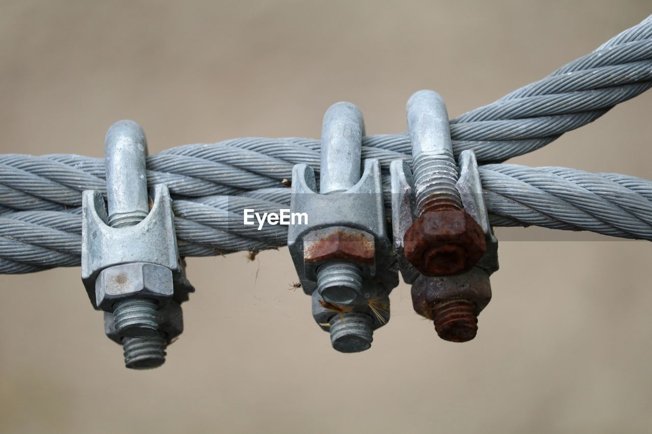 Close-Up Of Metal Cables