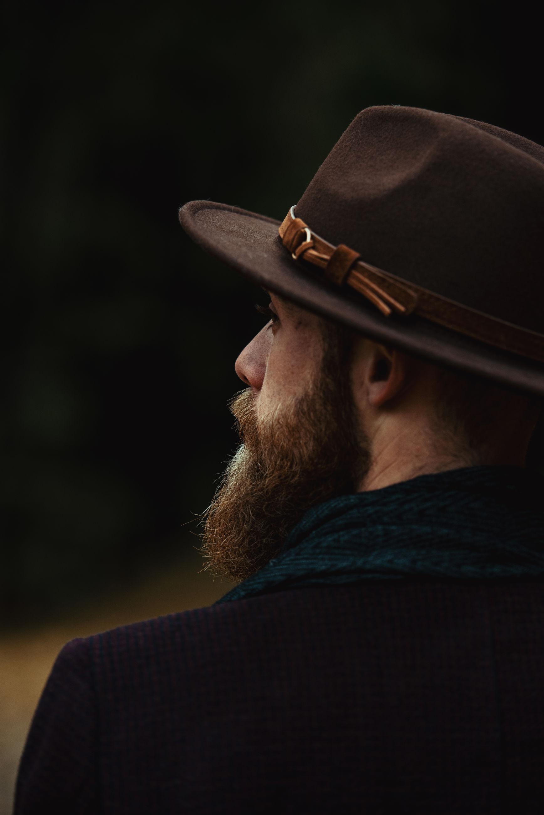 Bearded cowboy portrait