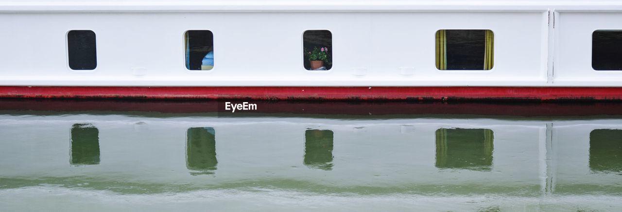 Panoramic View Of Ship In Danube