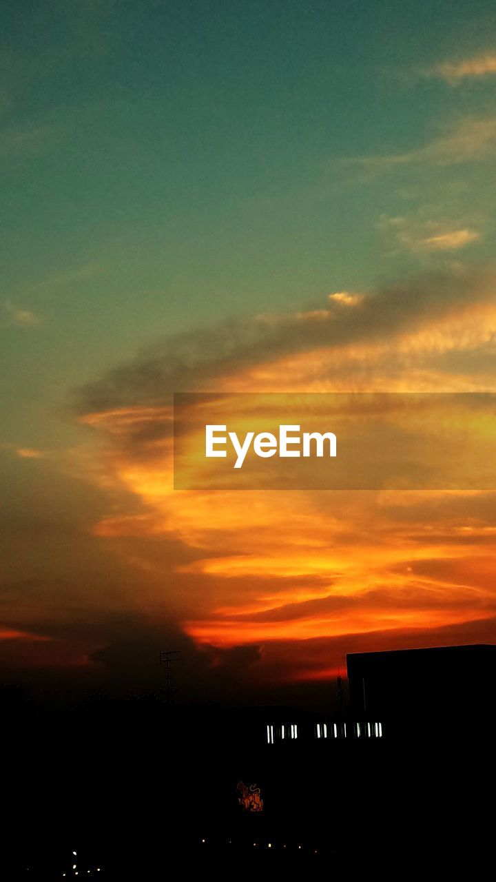 sunset, sky, cloud - sky, silhouette, orange color, beauty in nature, scenics - nature, tranquil scene, tranquility, no people, nature, idyllic, architecture, dramatic sky, built structure, outdoors, landscape, environment, non-urban scene, atmosphere