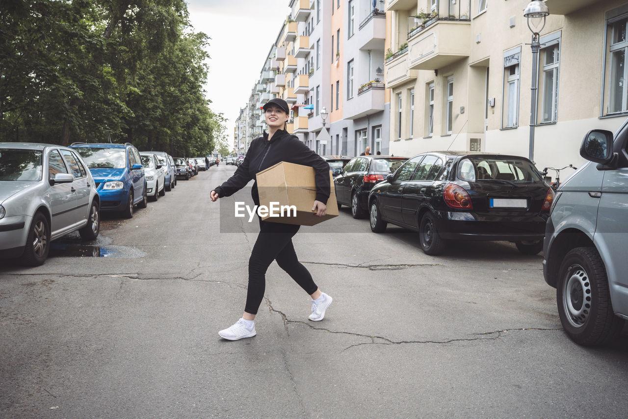 FULL LENGTH OF MAN ON STREET