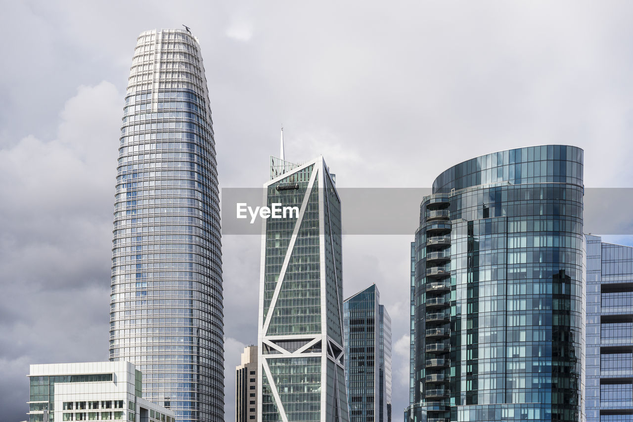 architecture, building exterior, built structure, modern, office building exterior, city, building, office, skyscraper, sky, tall - high, tower, nature, low angle view, landscape, no people, cloud - sky, day, glass - material, outdoors, financial district