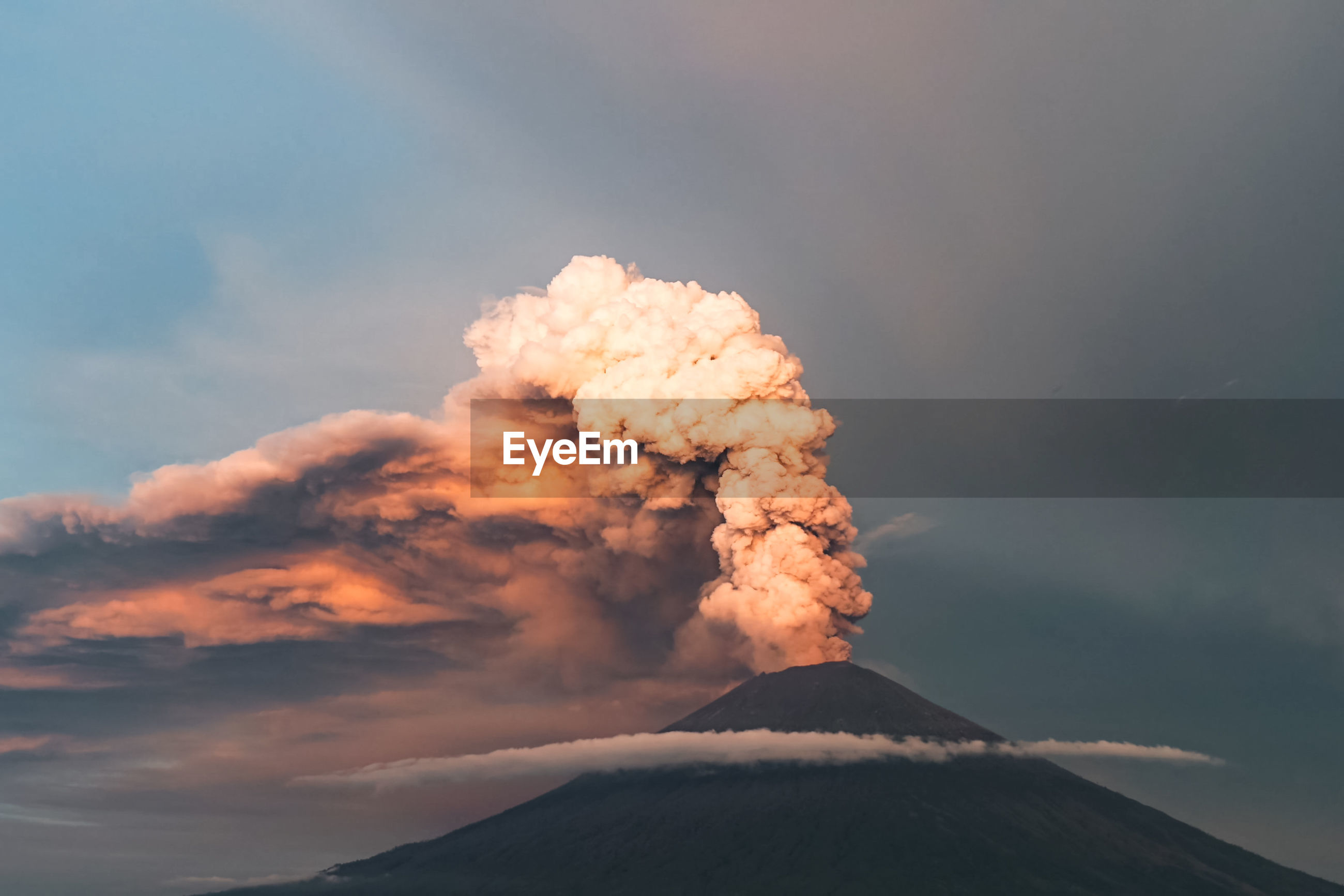 SMOKE EMITTING FROM VOLCANIC MOUNTAIN