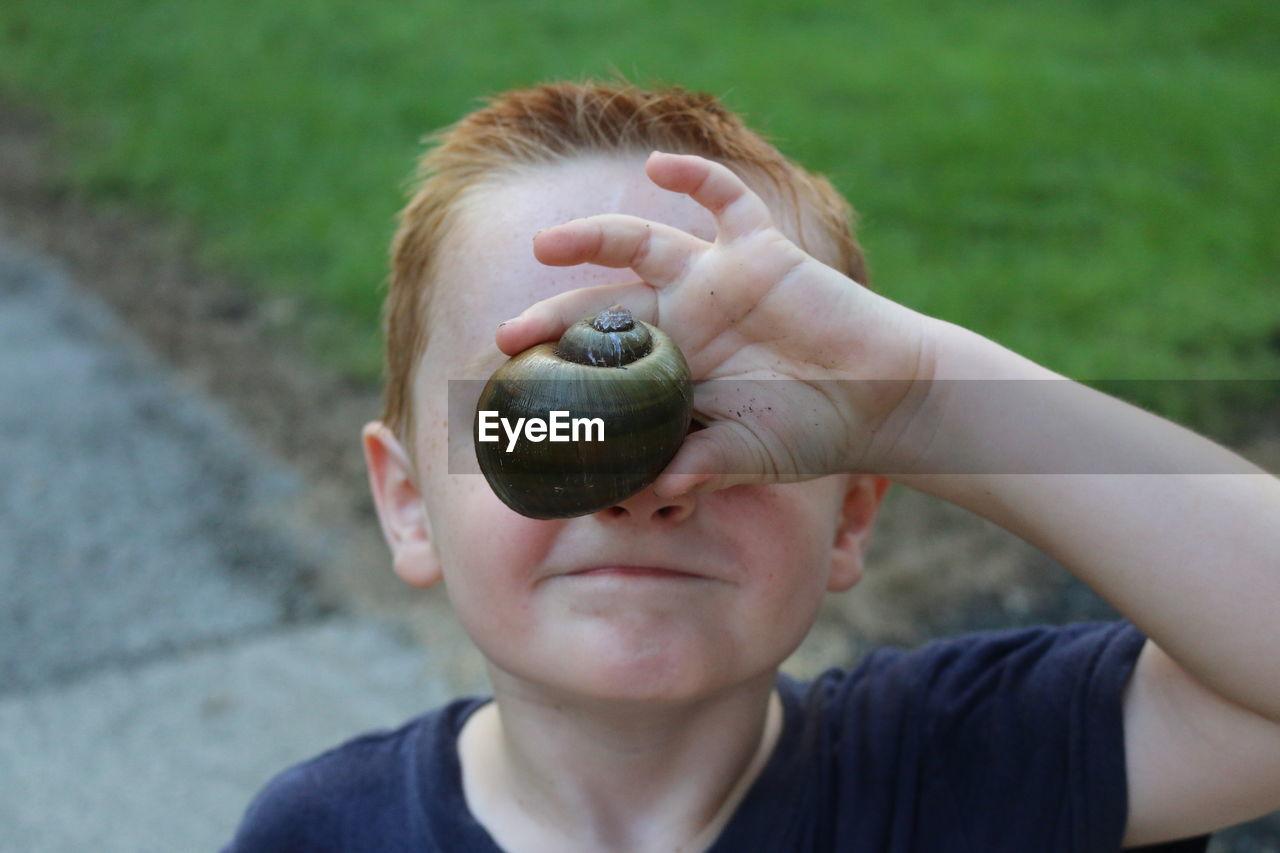 Close-Up Of Boy