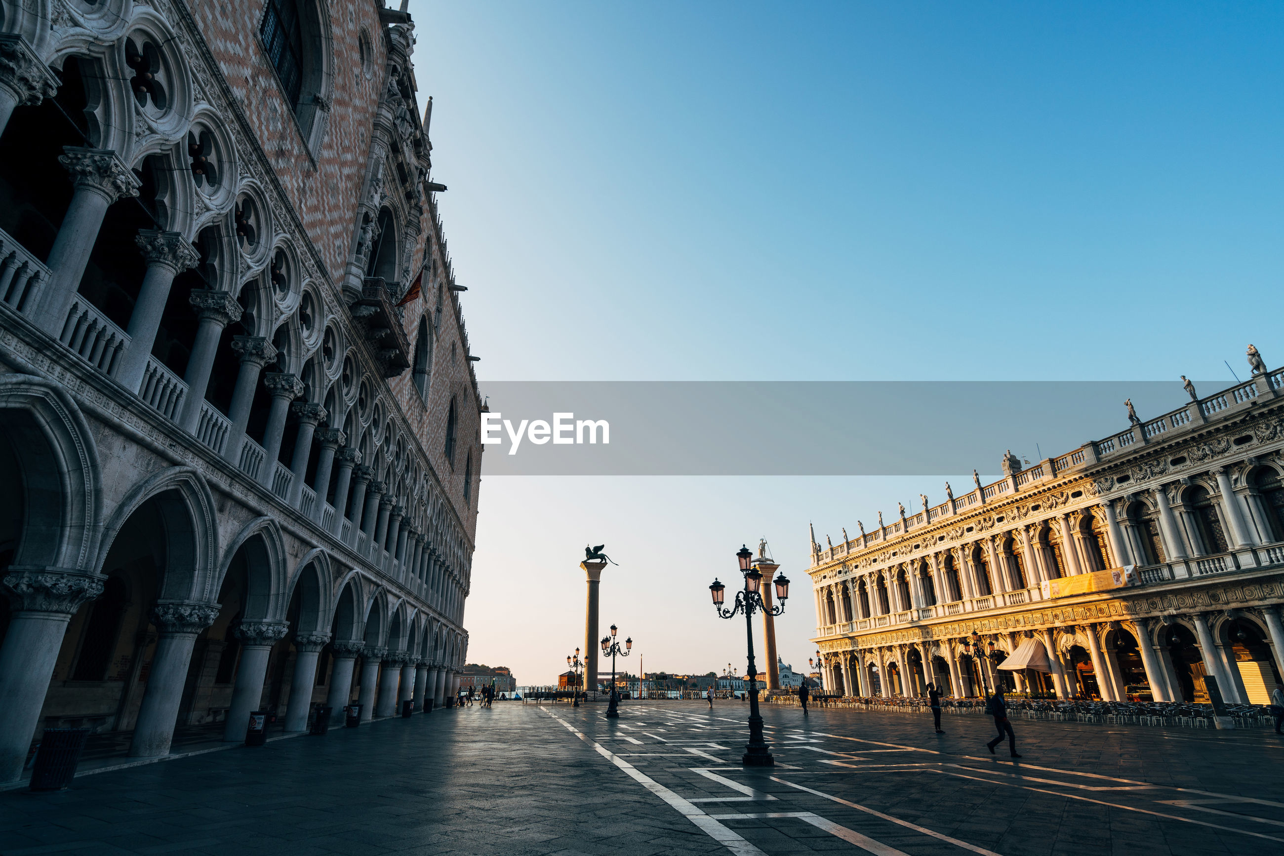 Piazza san marco against clear sky in city