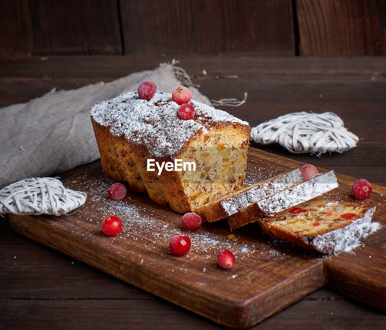 food, food and drink, freshness, wood - material, sweet food, still life, cutting board, indulgence, table, baked, indoors, sweet, no people, ready-to-eat, temptation, fruit, dessert, healthy eating, slice, close-up, powdered sugar