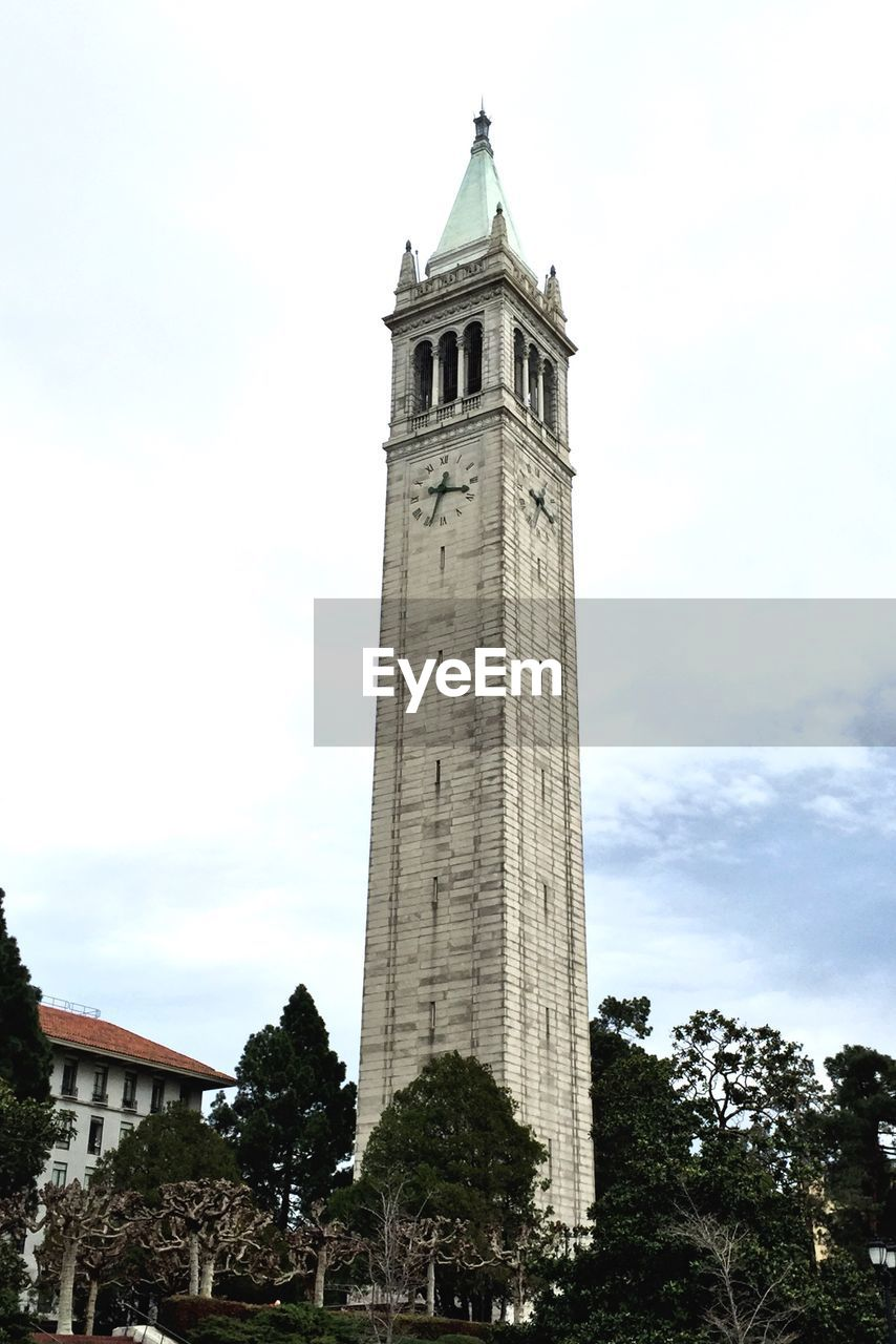Campanile Sather Tower Against Cloudy Sky