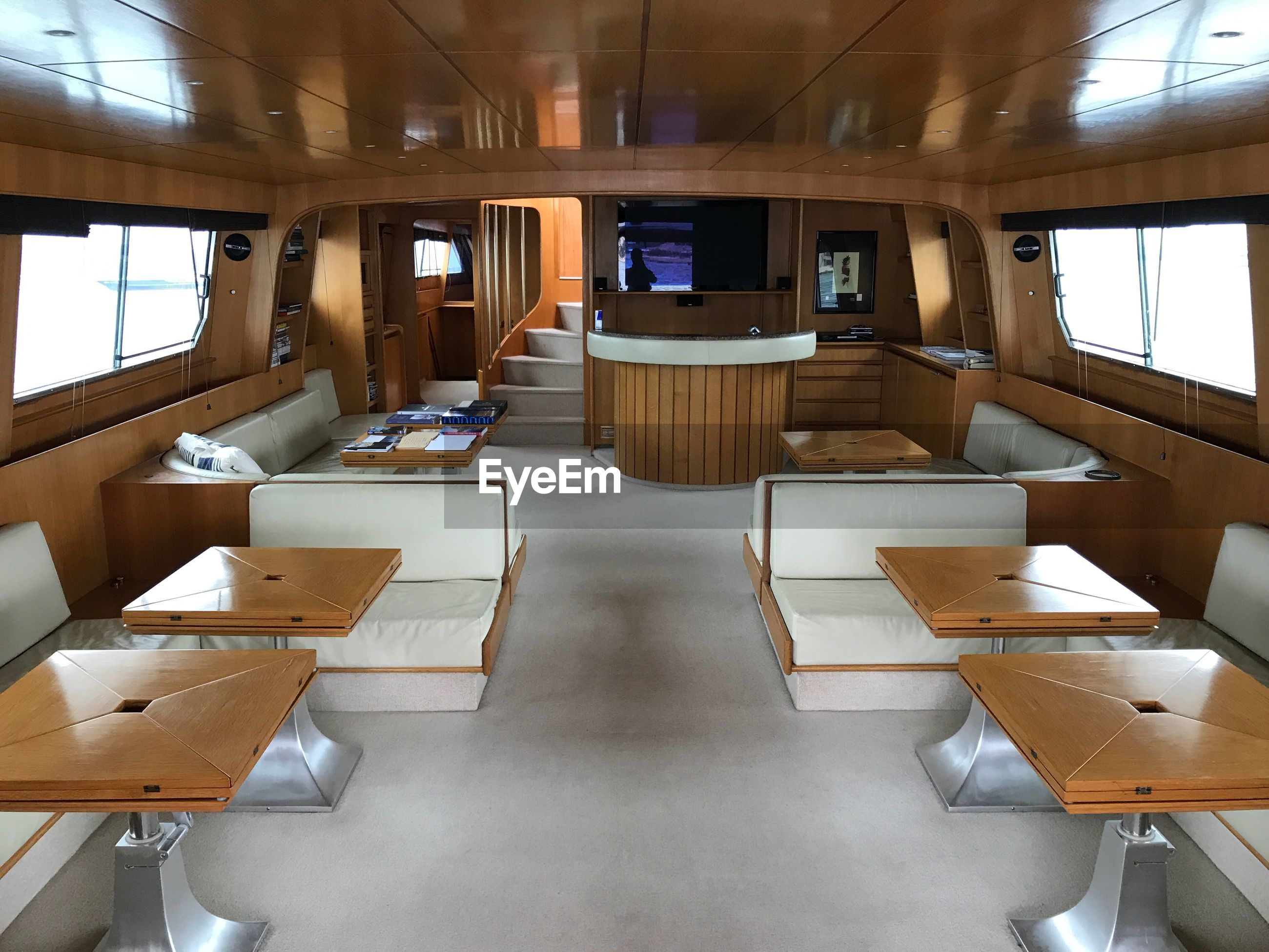 Tables in yacht