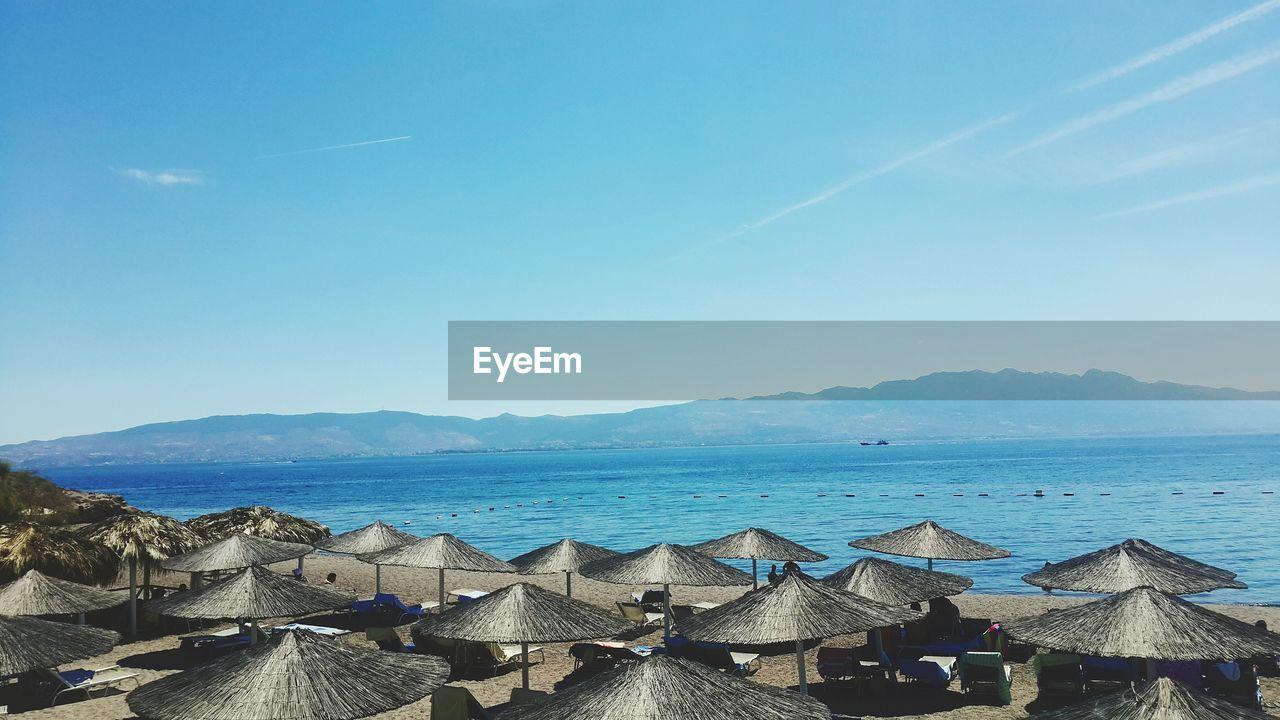 Panoramic View Of Sea Against Coastline