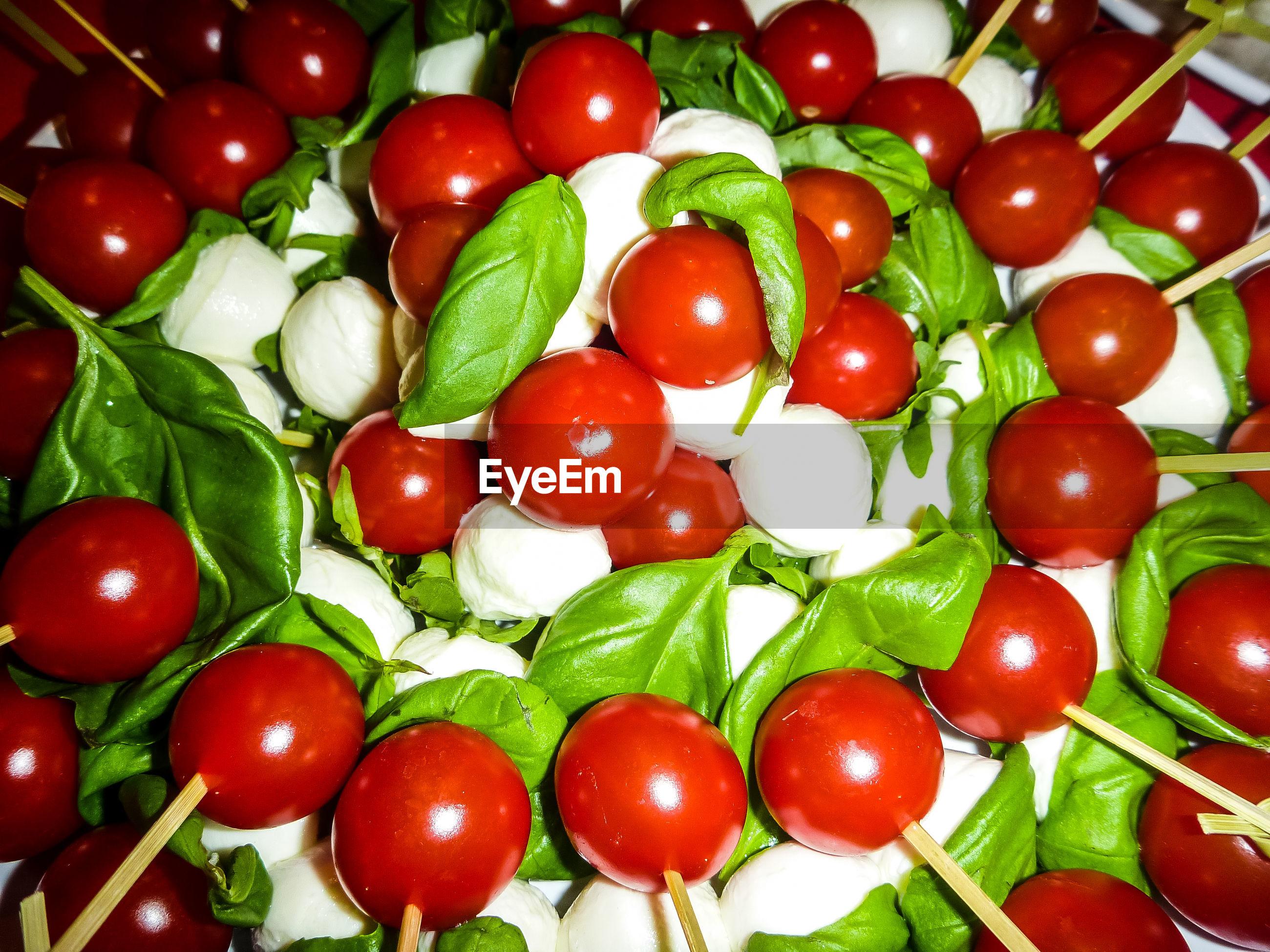 Close-up of caprese salad