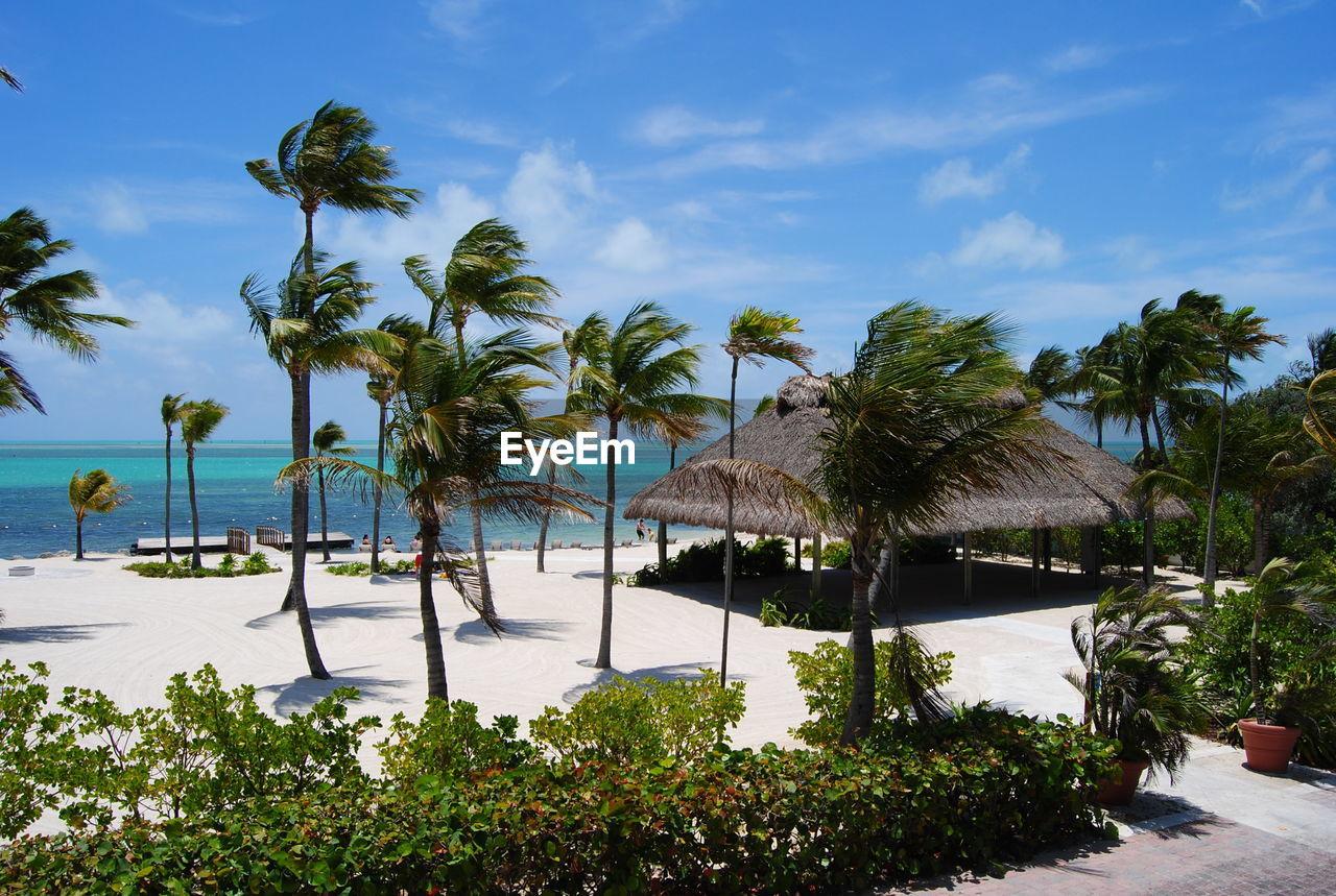 View of idyllic tourist resort