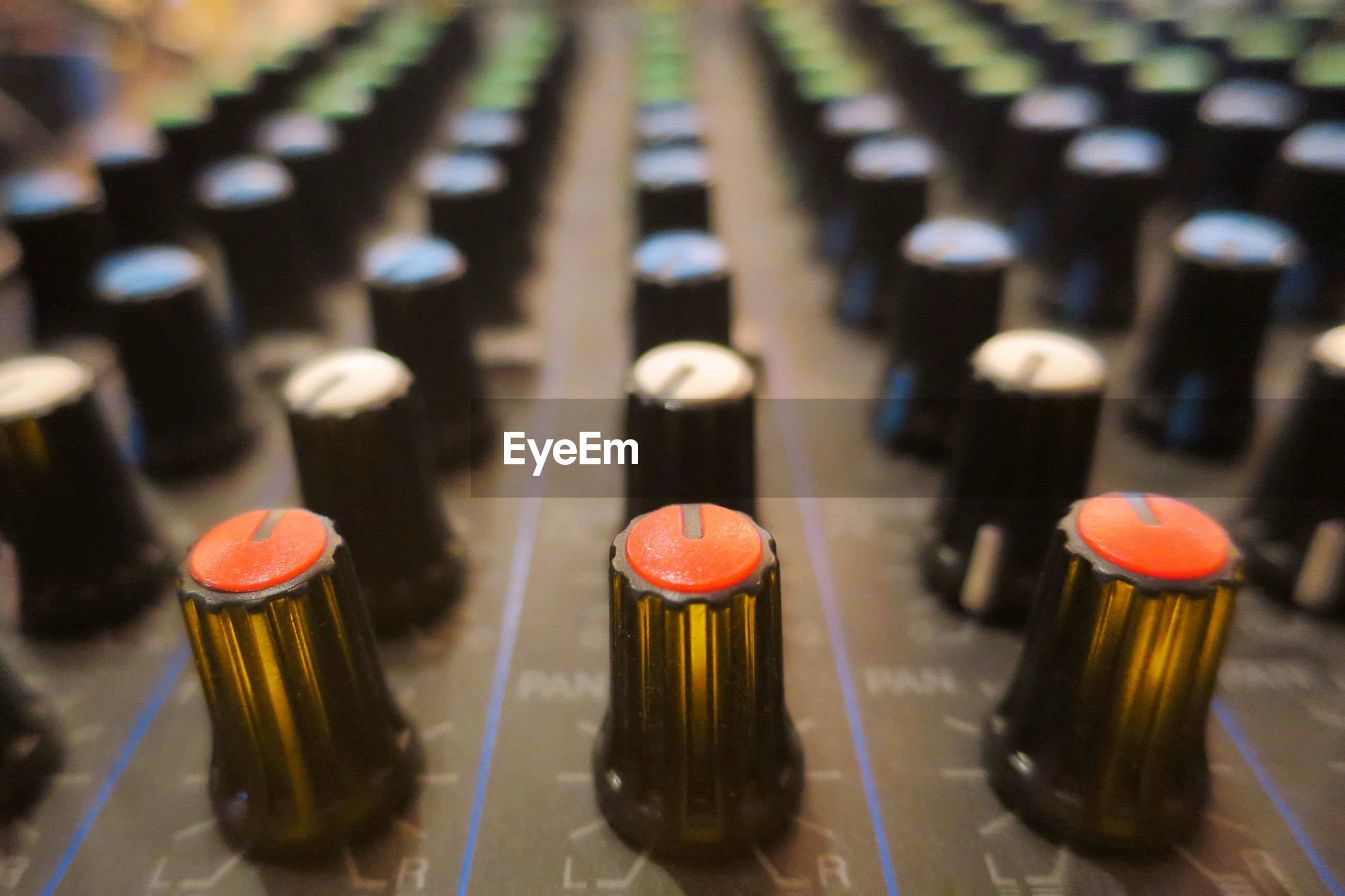 High angle view of sound mixer