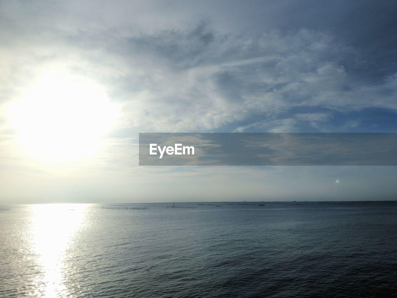 sky, water, sea, horizon, beauty in nature, scenics - nature, tranquility, horizon over water, tranquil scene, cloud - sky, waterfront, idyllic, nature, sunlight, no people, reflection, sun, day, non-urban scene, outdoors