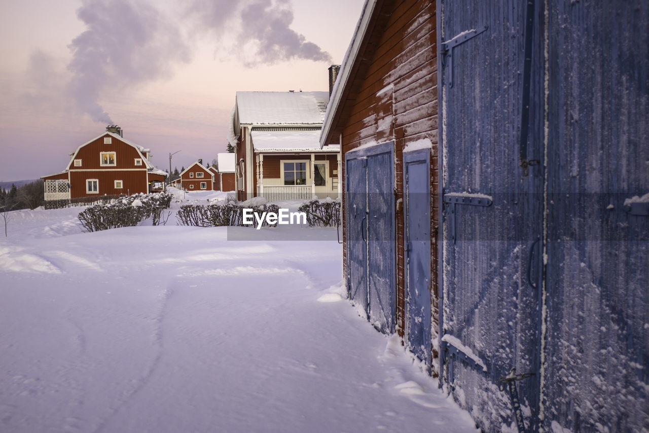 building exterior, built structure, winter, architecture, house, snow, cold temperature, outdoors, residential building, no people, sky, day, nature