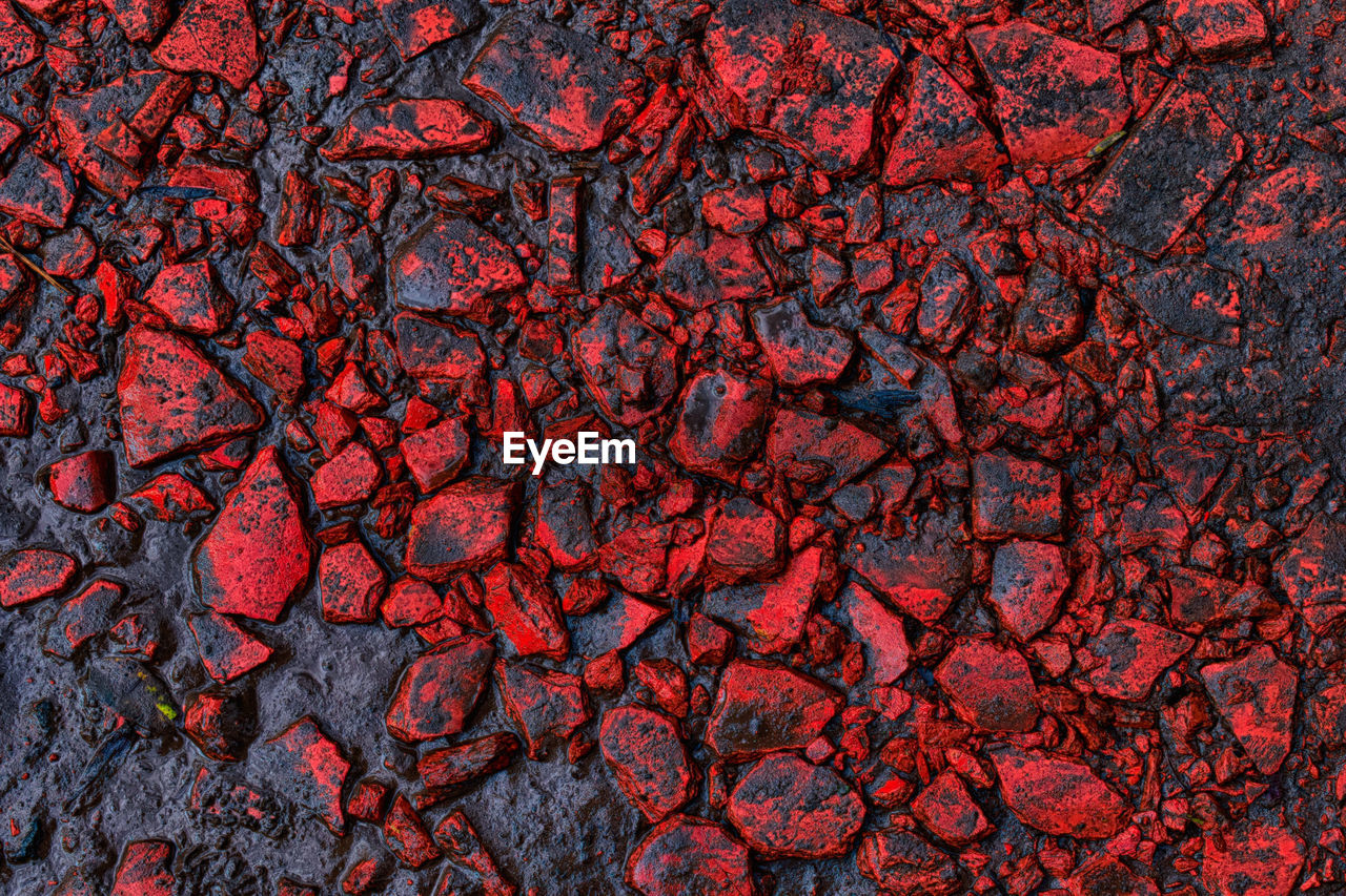 backgrounds, full frame, red, no people, geology, nature, pattern, textured, close-up, rock, cracked, science, outdoors, rock - object, solid, lava, beauty in nature, environment, day, volcano