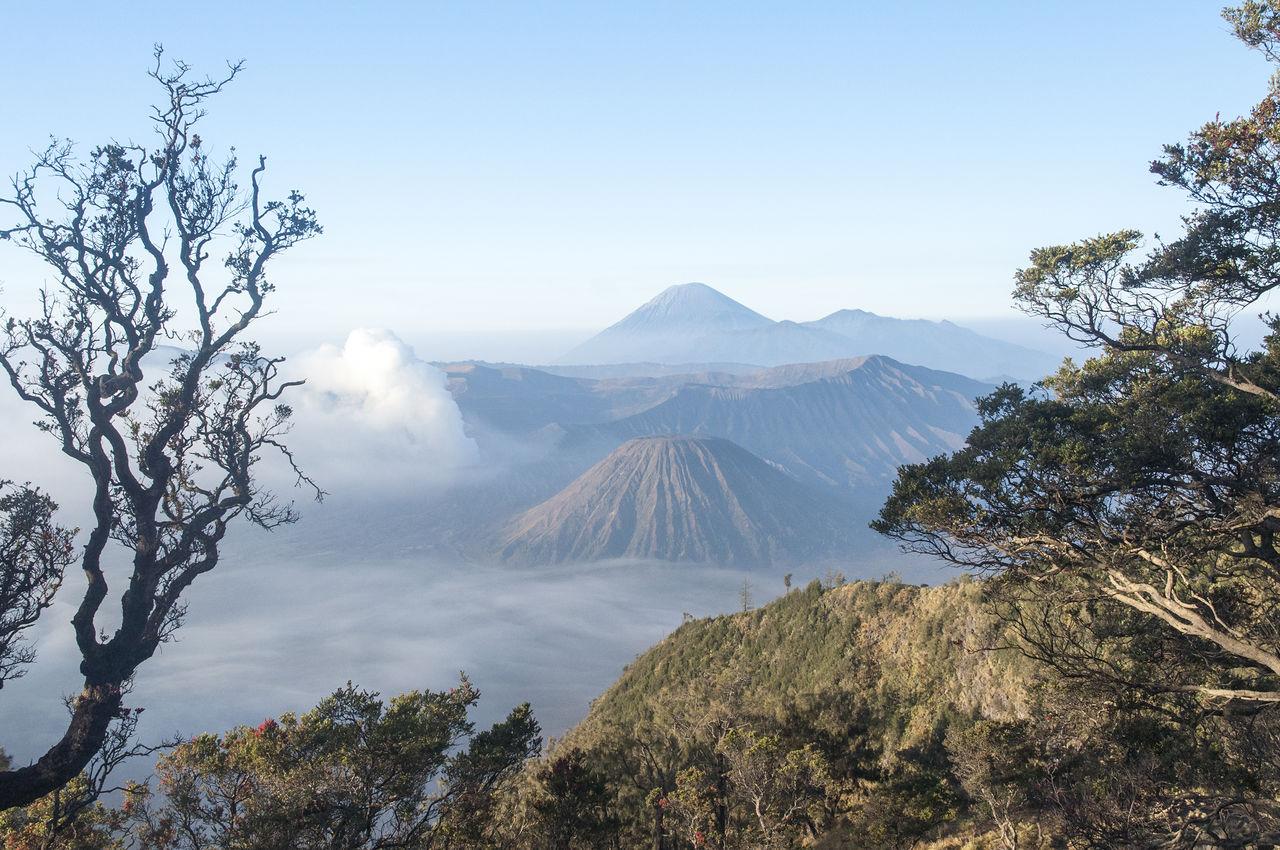 High Angle Shot Of Mount Bromo