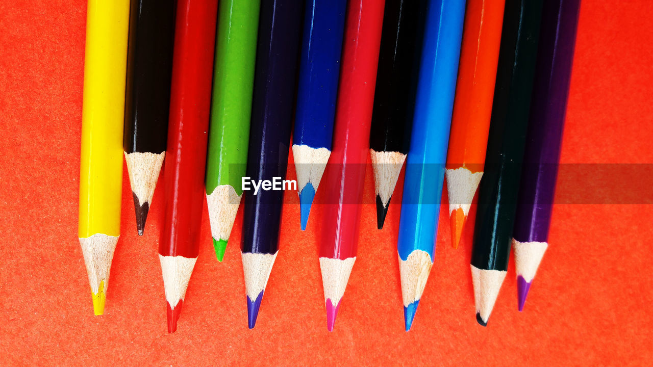 multi colored, choice, variation, pencil, writing instrument, still life, art and craft, colored pencil, no people, close-up, creativity, indoors, large group of objects, side by side, craft, studio shot, art and craft equipment, vibrant color, high angle view, arrangement, variety