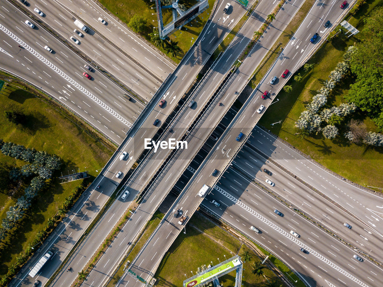 HIGH ANGLE VIEW OF CARS ON STREET