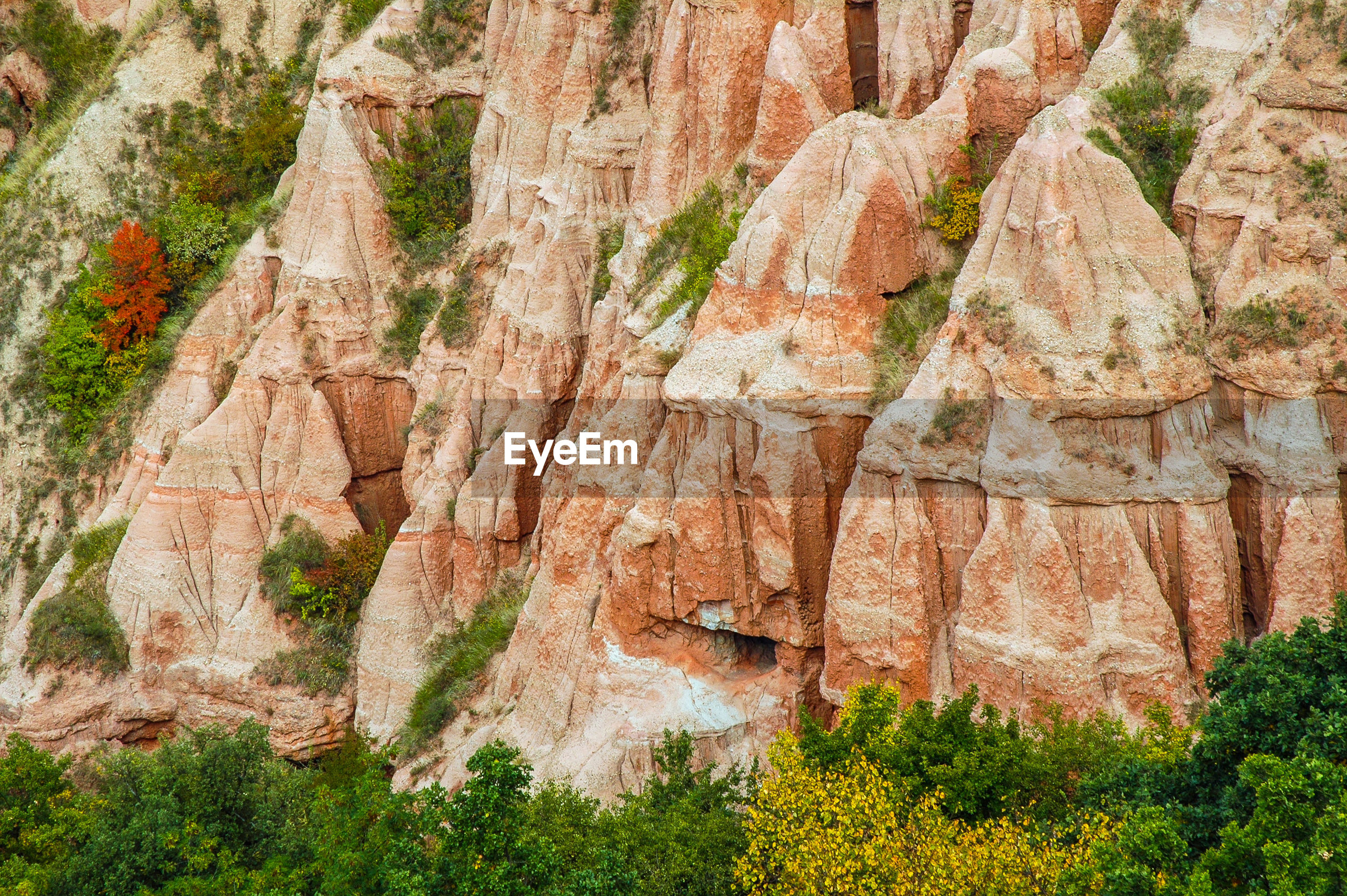 Scenic view of rock formations