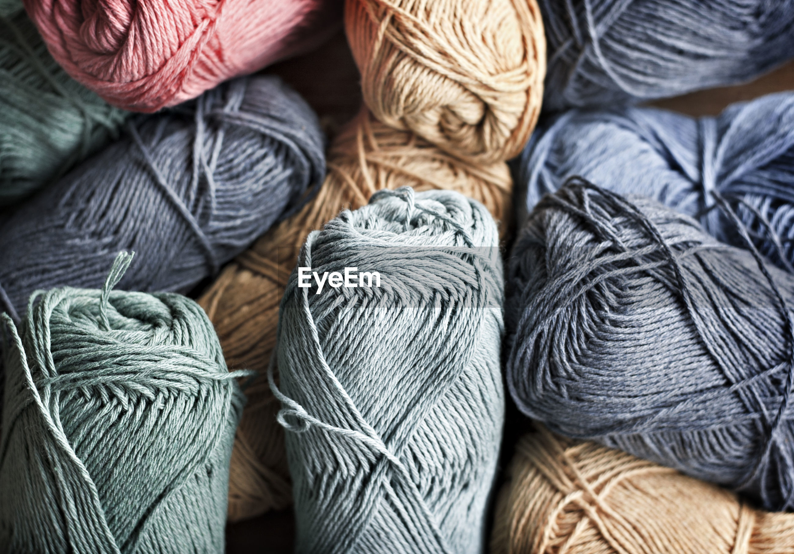 Full frame shot of colorful wools