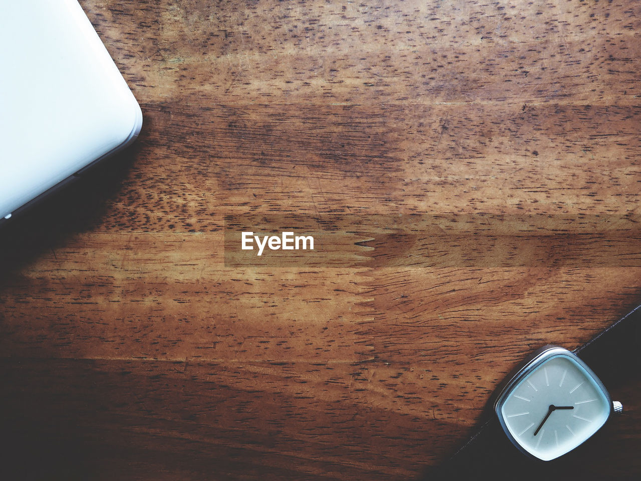 table, indoors, wood - material, technology, desk, close-up, no people, time, clock, day