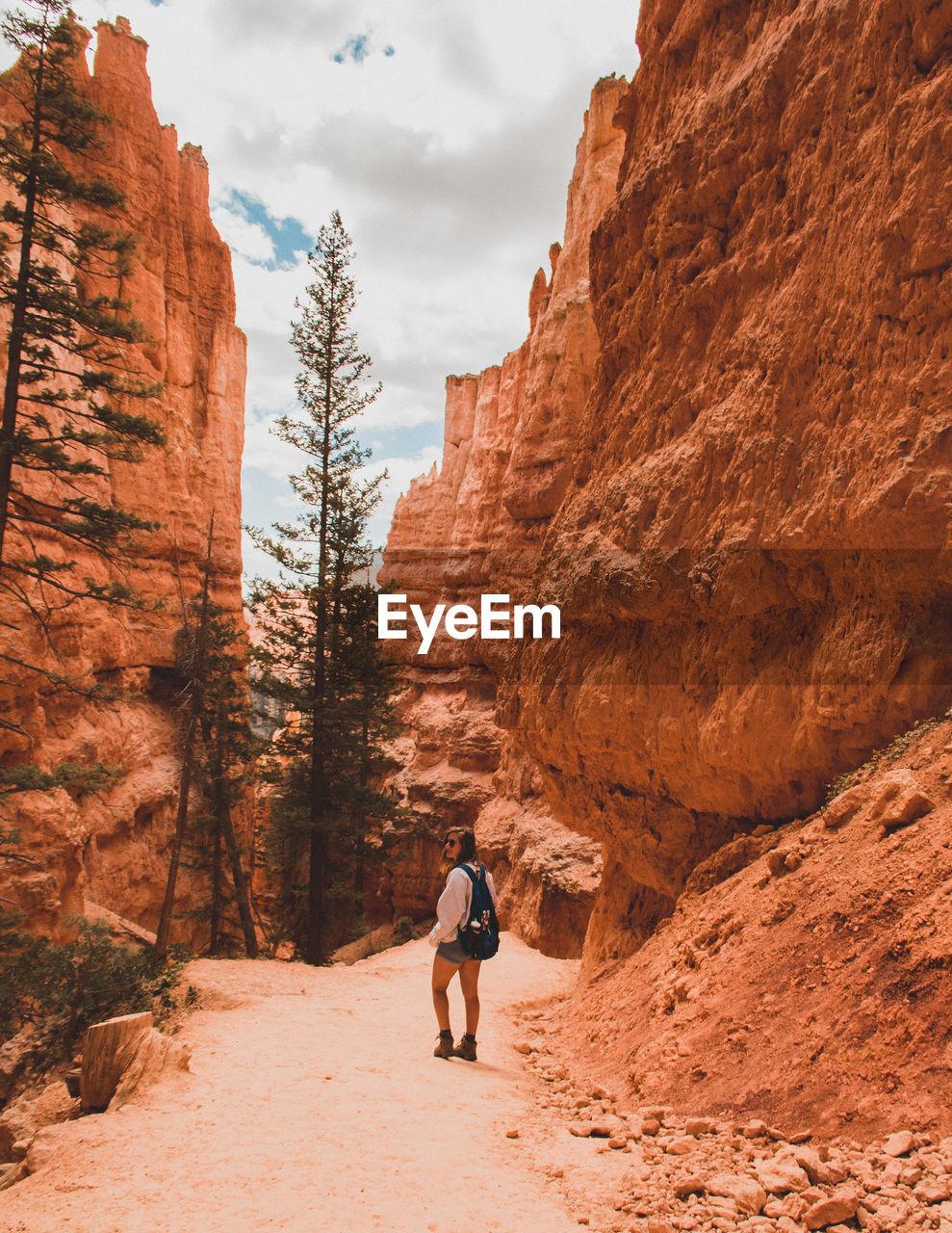 Young Woman Hiking At Bryce Canyon National Park