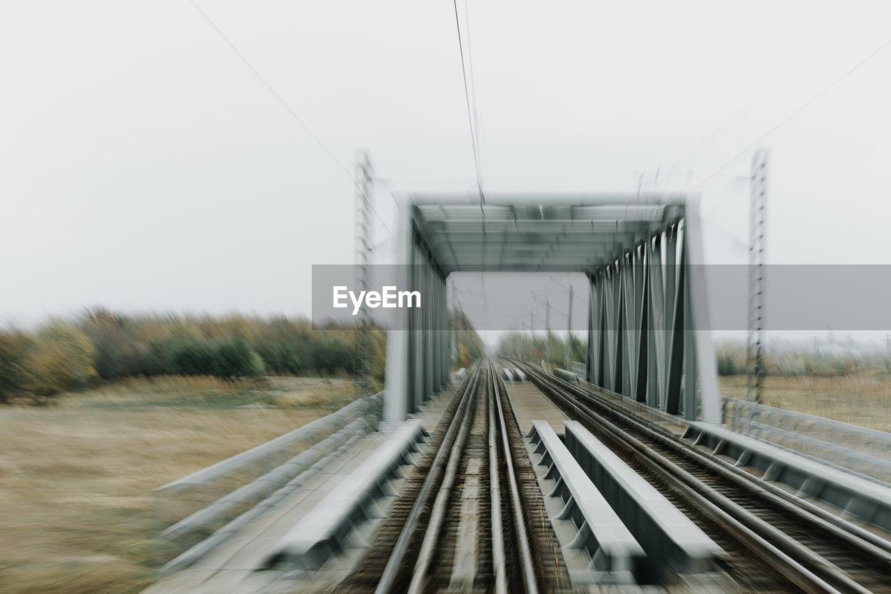 Blurred Motion Of Railway Bridge