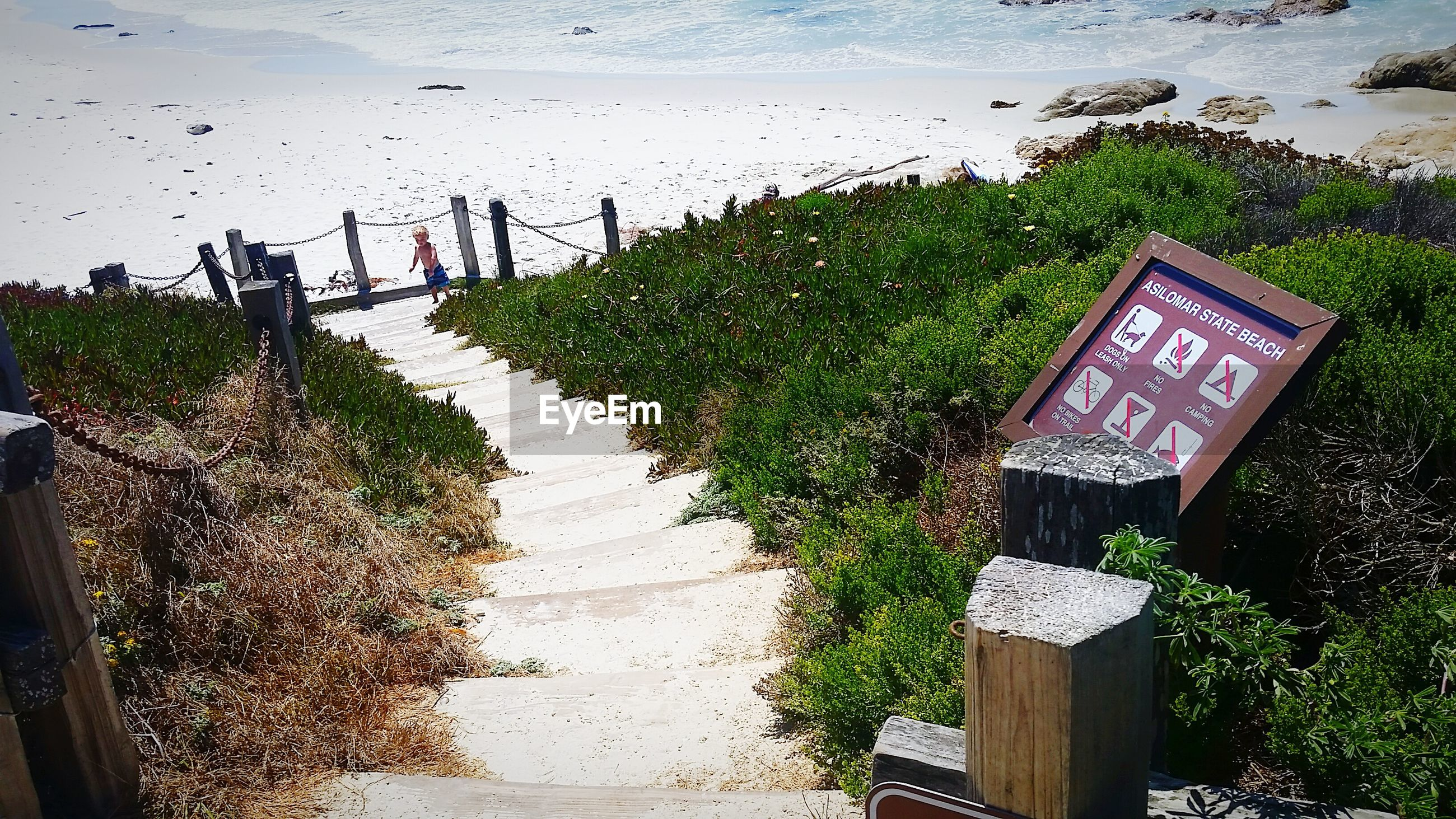Information sign on beach