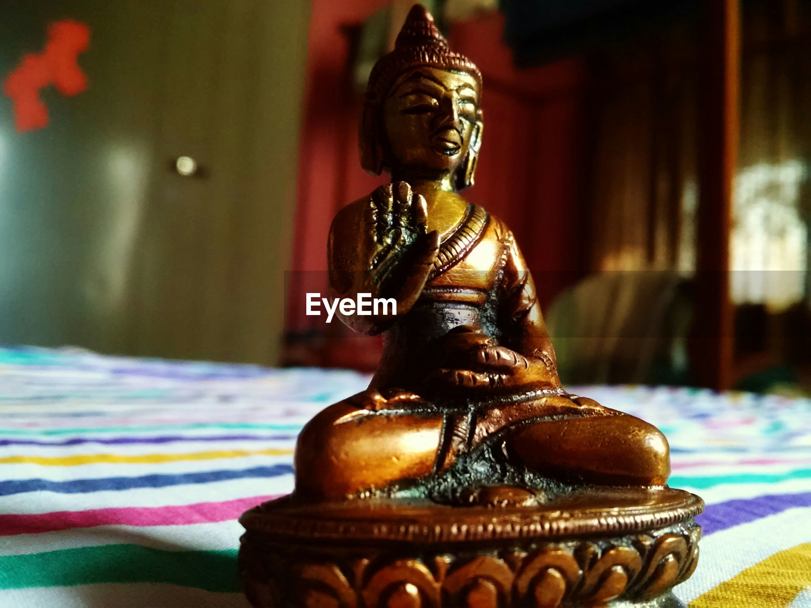 art and craft, human representation, statue, sculpture, art, religion, creativity, spirituality, buddha, place of worship, temple - building, gold colored, indoors, ornate, focus on foreground, carving - craft product, cultures, tradition