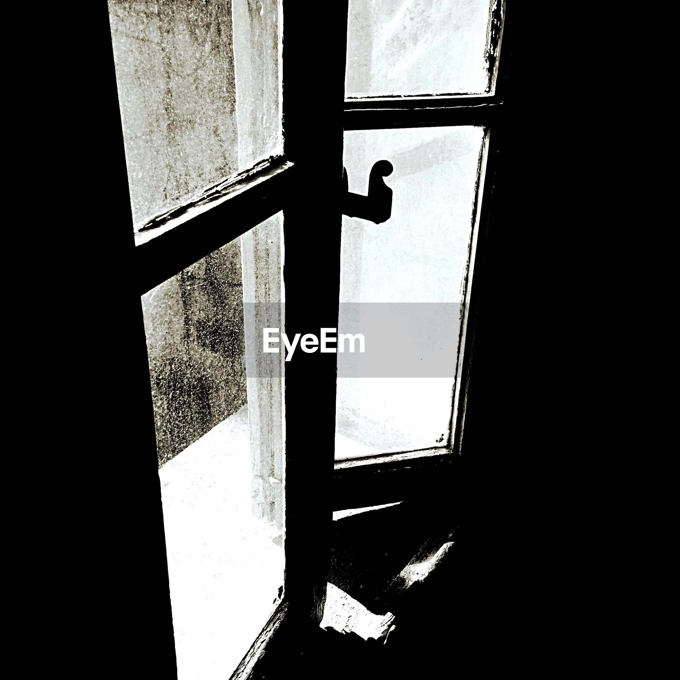 window, indoors, sunlight, silhouette, no people, day, close-up, ajar
