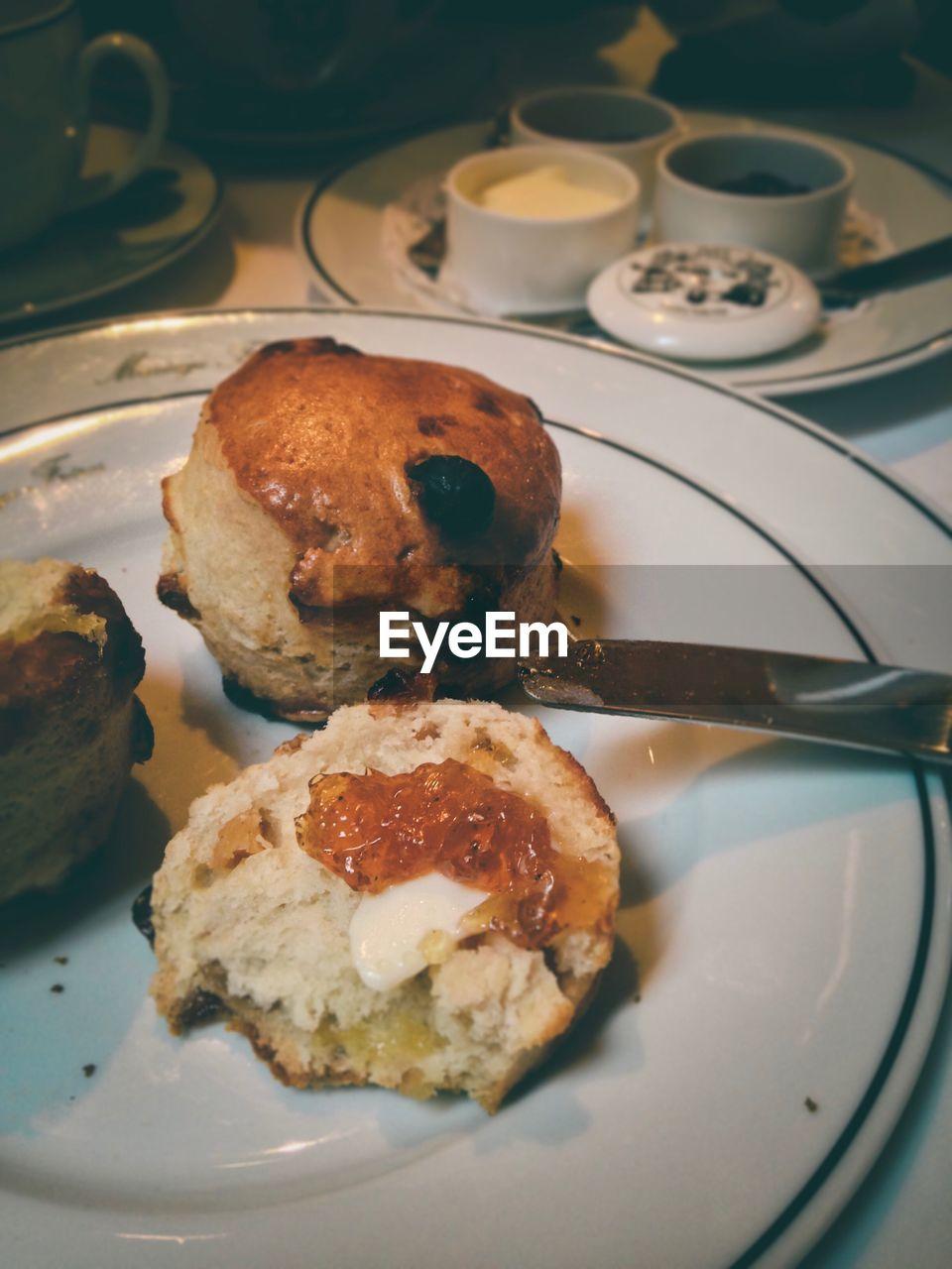 View Of Breakfast In Plate