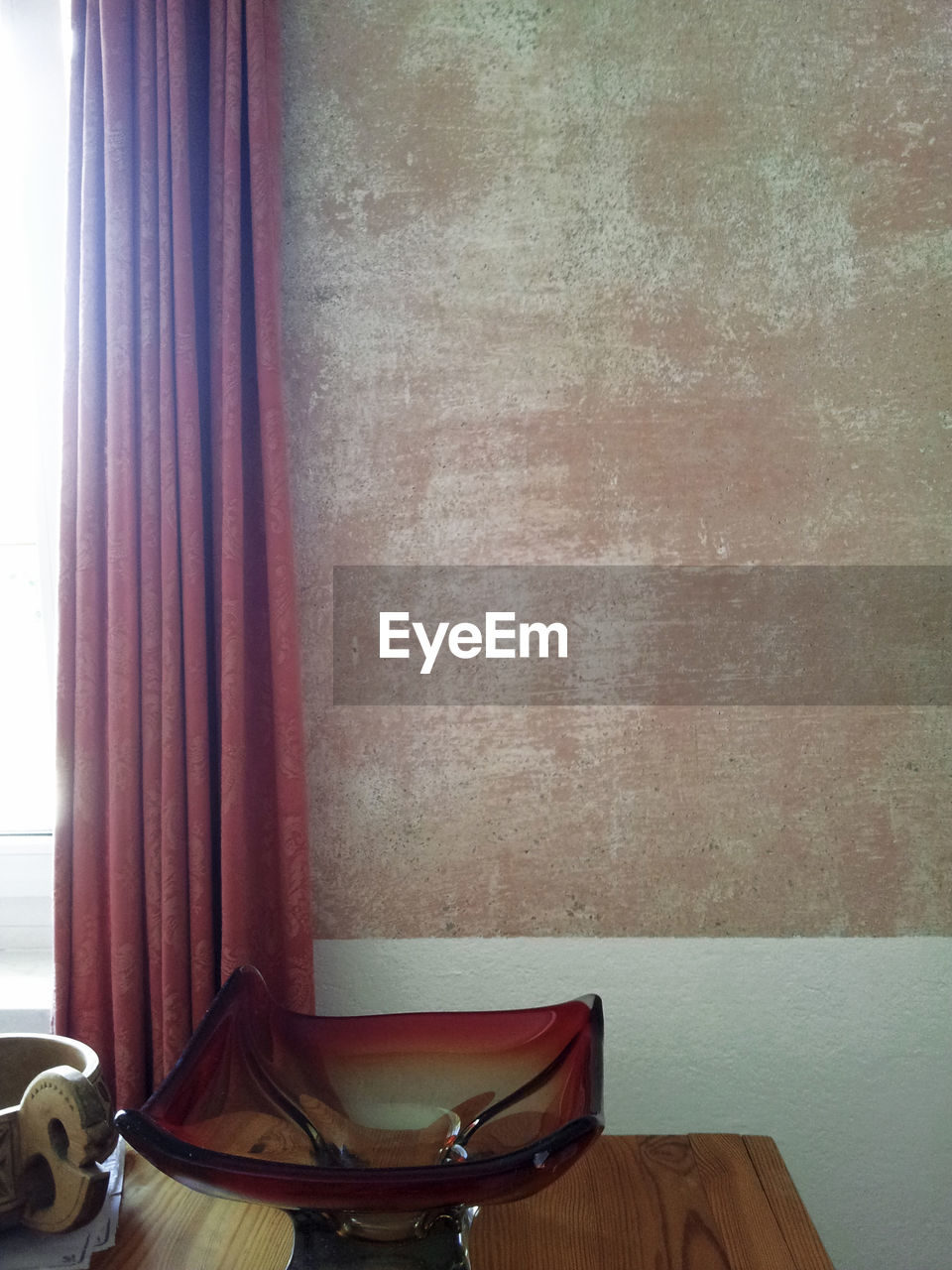 indoors, curtain, window, no people, table, wood - material, home interior, day, close-up