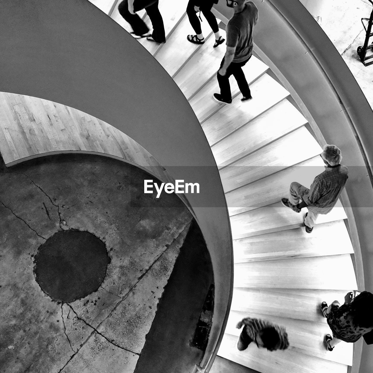 real people, high angle view, architecture, group of people, women, low section, people, lifestyles, leisure activity, indoors, men, walking, adult, flooring, built structure, staircase, human leg, day, steps and staircases, body part, human foot