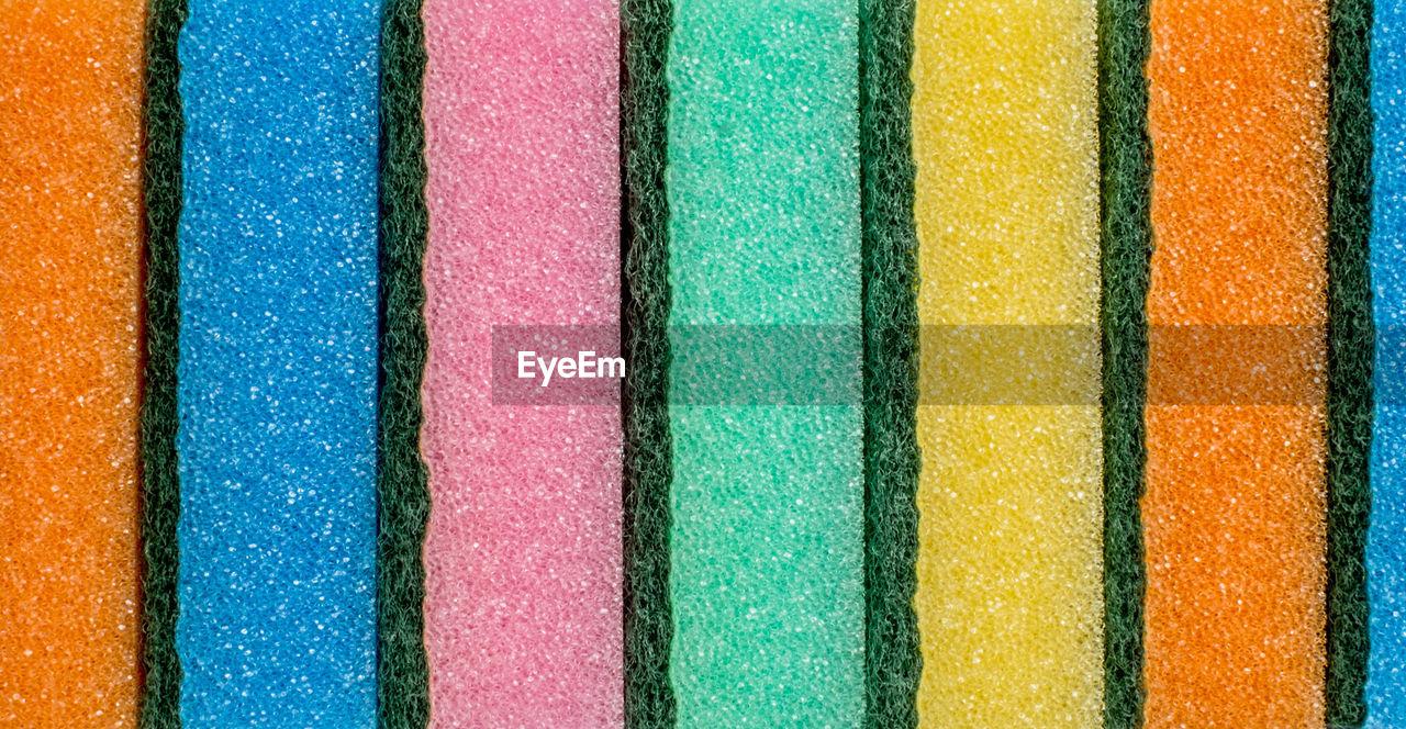 Full Frame Shot Of Multi Colored Sponges