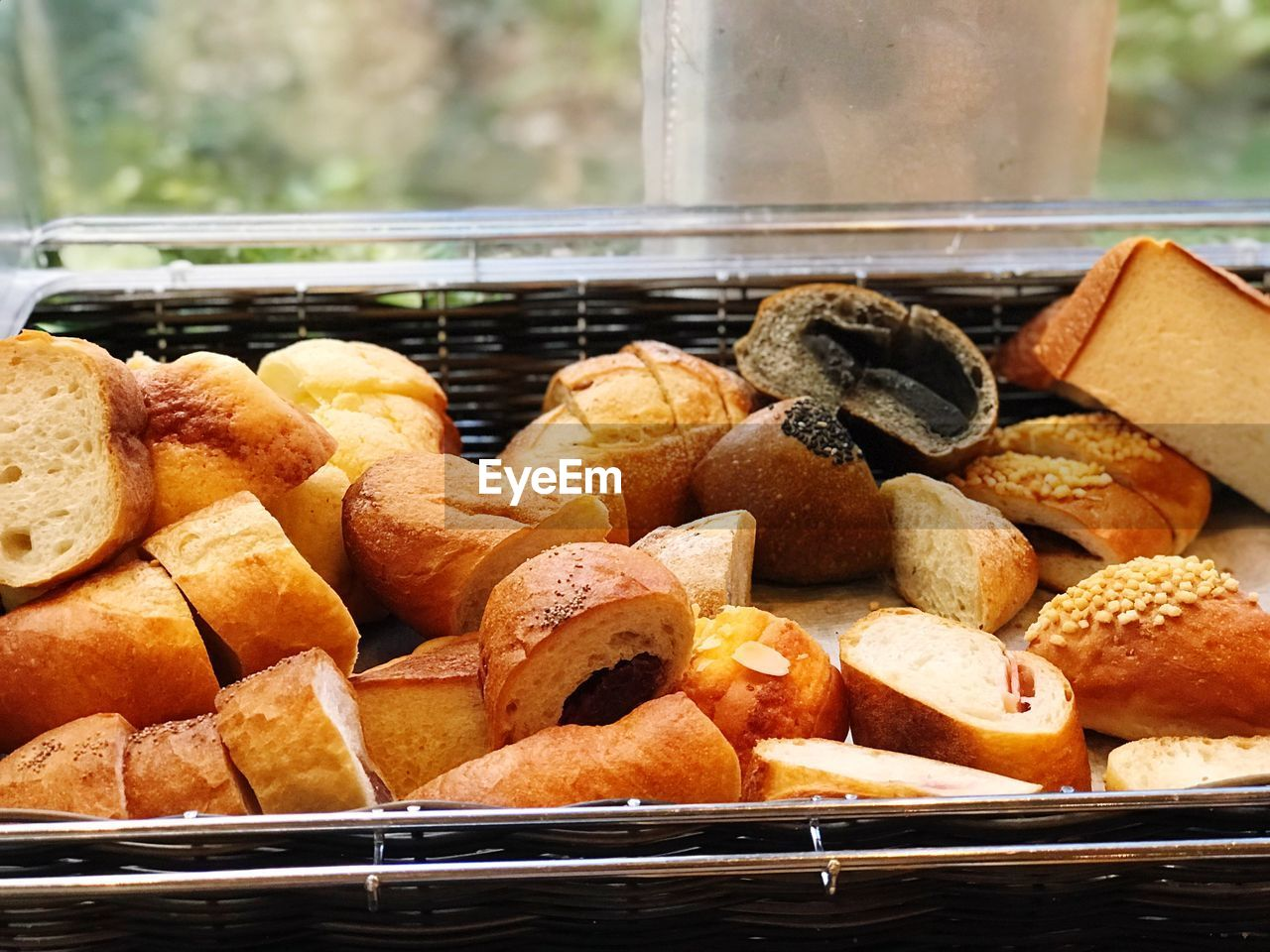 food, food and drink, freshness, ready-to-eat, close-up, still life, bread, no people, baked, container, focus on foreground, basket, indoors, day, brown, indulgence, healthy eating, sweet food, snack, bun, tray, french food, temptation