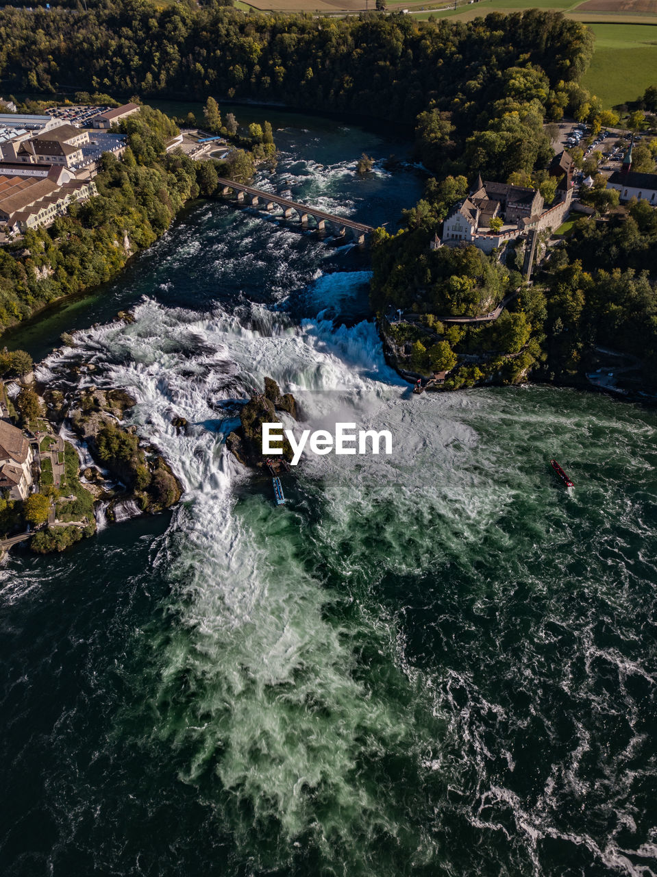 water, nature, beauty in nature, river, day, scenics - nature, rock, high angle view, motion, no people, waterfront, rock - object, solid, sport, flowing water, outdoors, plant, tree, flowing