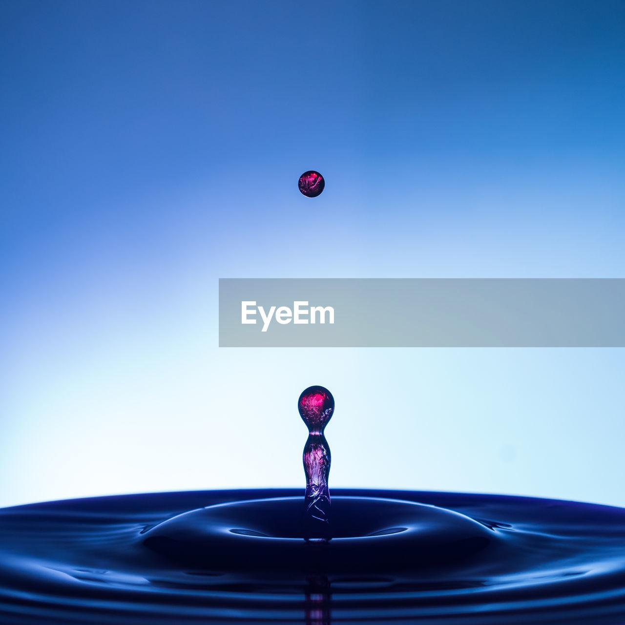Close-Up Of Splashing Droplet
