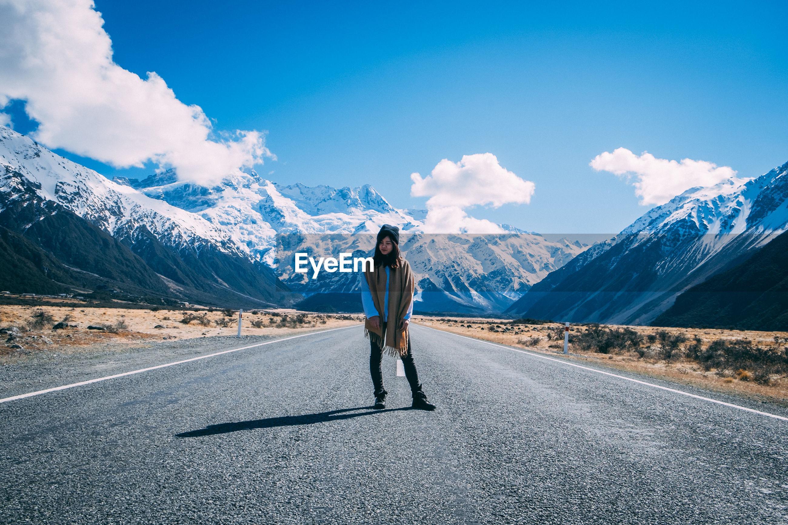 Travel vibe. group friend road trip. friendship. new zealand