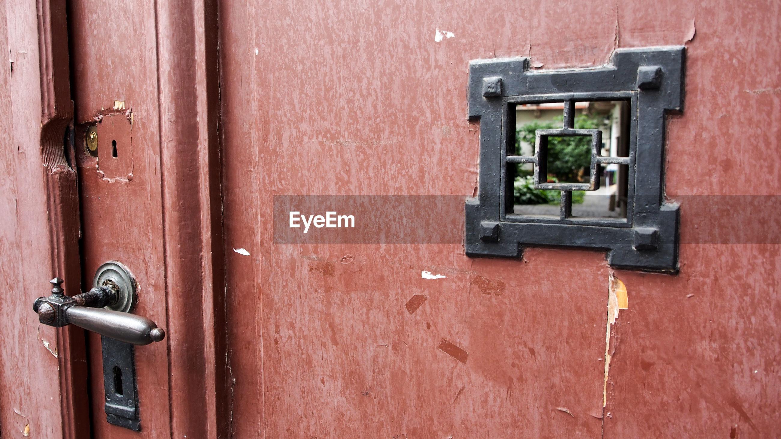 Full frame shot of closed entrance door