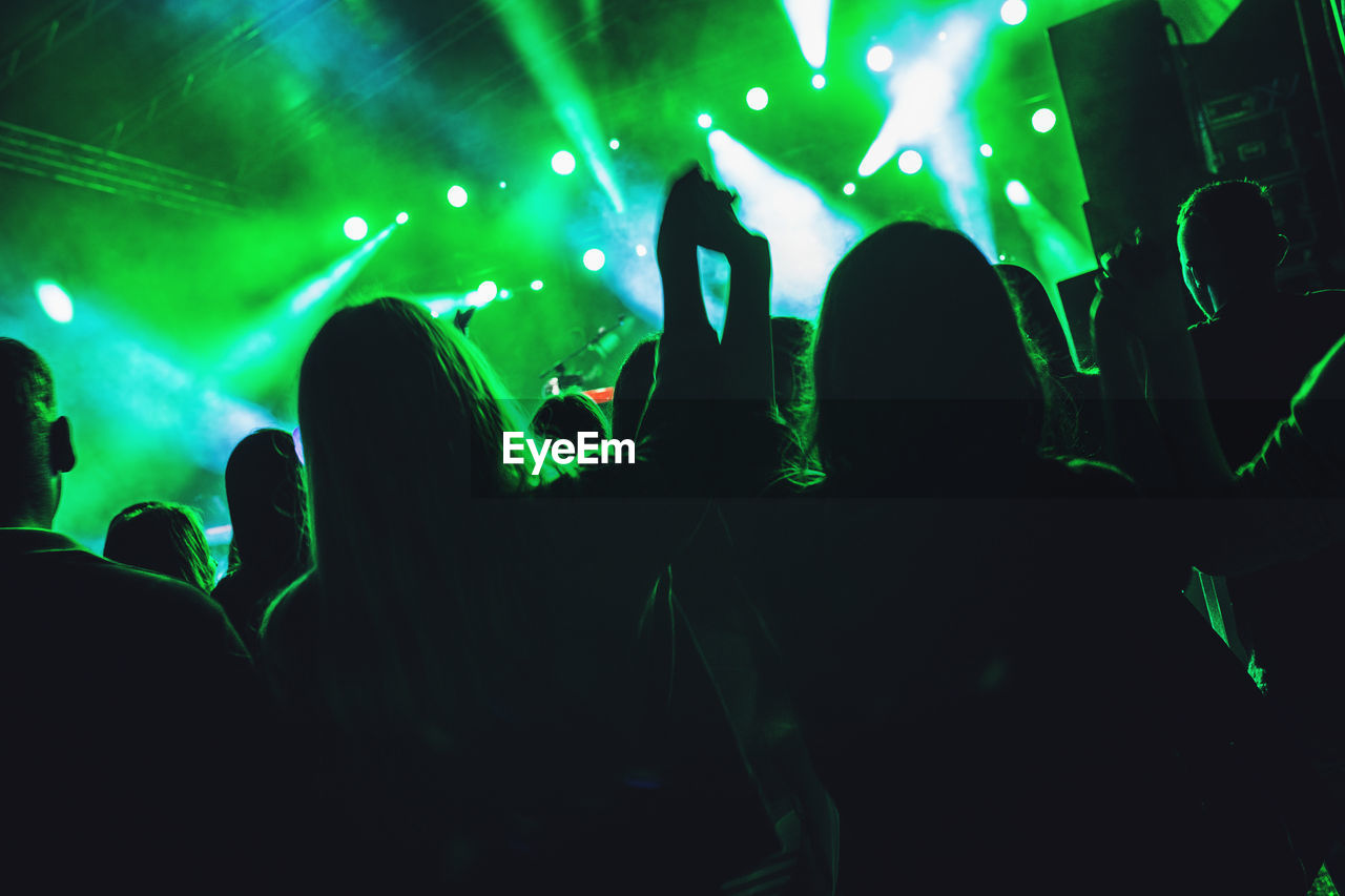 Silhouette Of Crowd At Concert