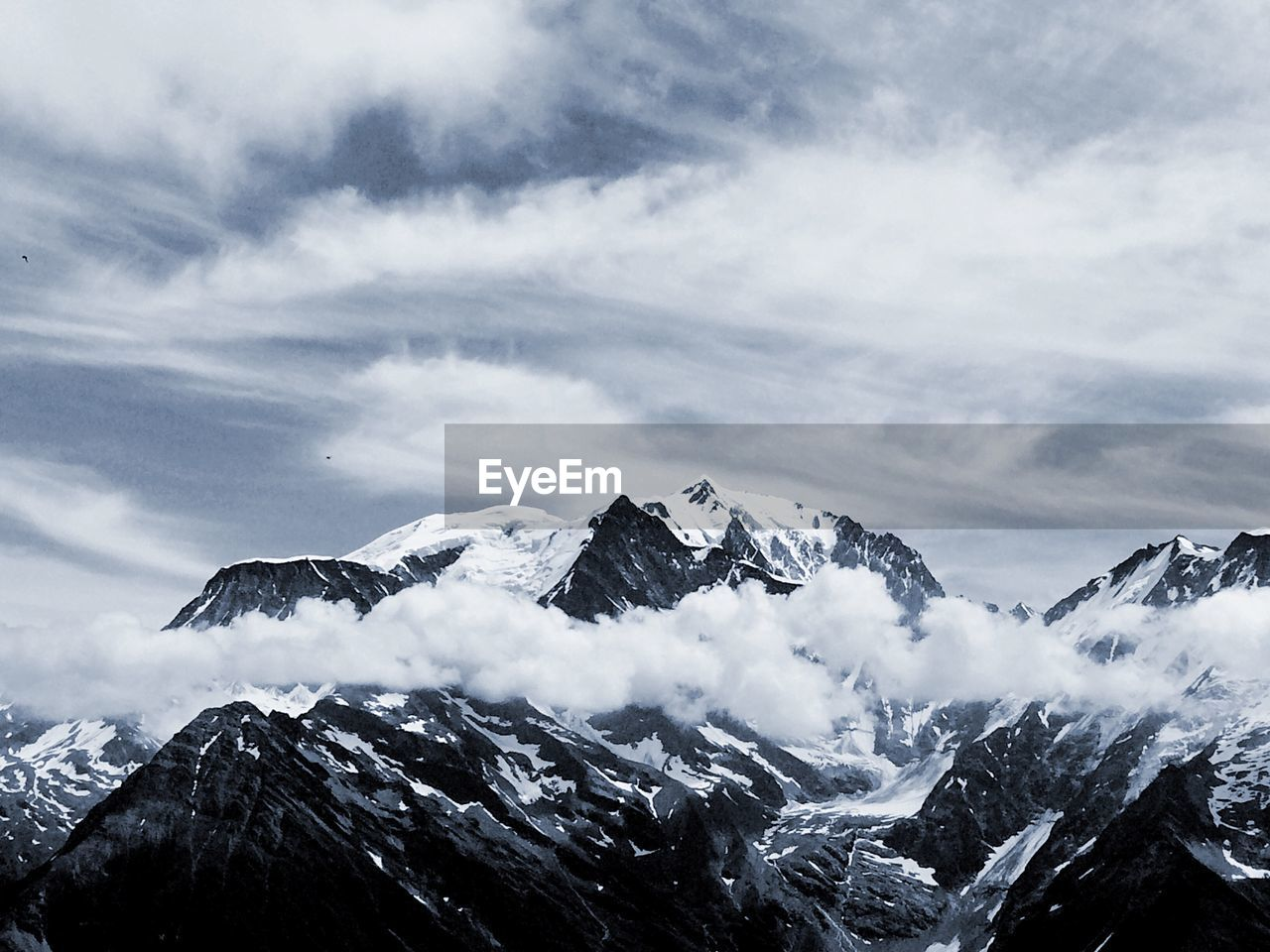 cloud - sky, mountain, winter, snow, cold temperature, sky, scenics - nature, beauty in nature, snowcapped mountain, tranquility, mountain range, tranquil scene, non-urban scene, nature, day, environment, mountain peak, no people, covering, outdoors, formation