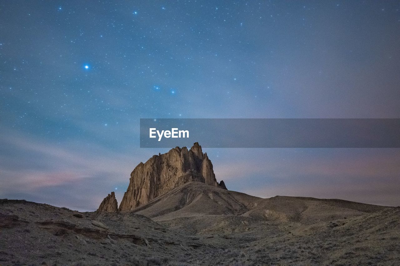 Shiprock and the stars
