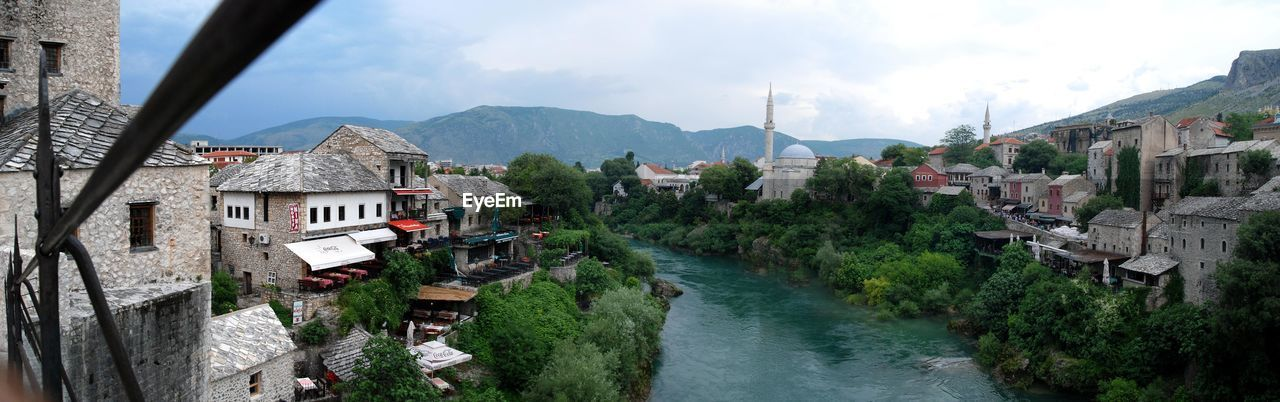 PANORAMIC VIEW OF TOWN BY VILLAGE