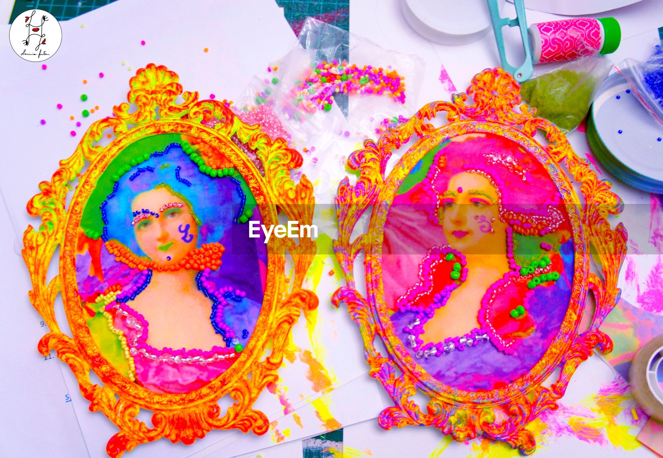 art, art and craft, human representation, multi colored, creativity, religion, culture, spirituality, close-up, vibrant color, mural, full frame, decoration, decorated, painted image