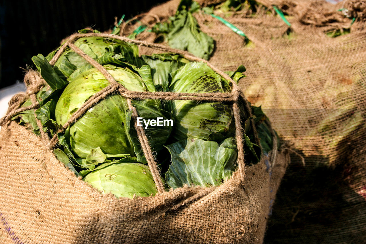 Close-Up Of Vegetables In Sack