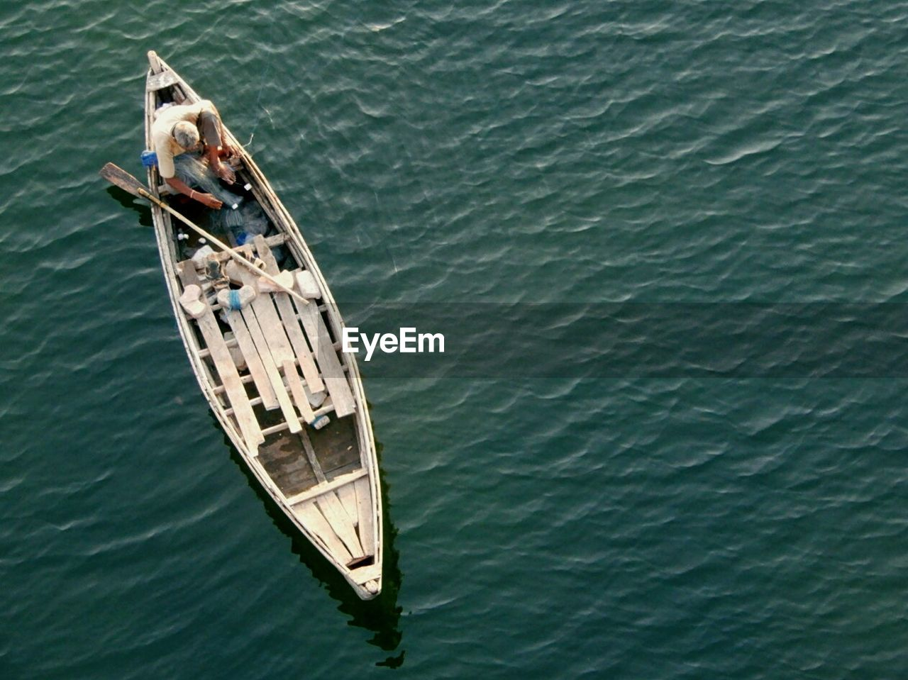 High Angle View Of Boat On Water