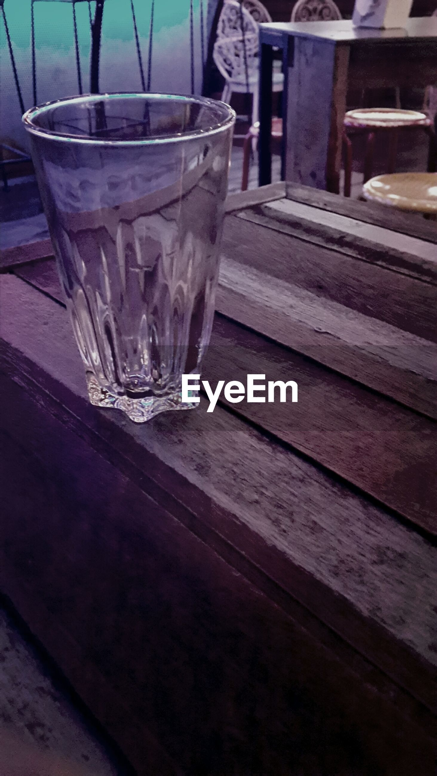 Close up of empty glass