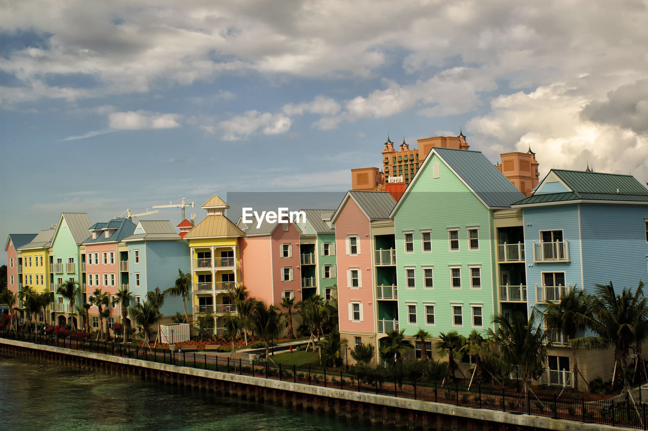 Residential Buildings On Waterfront