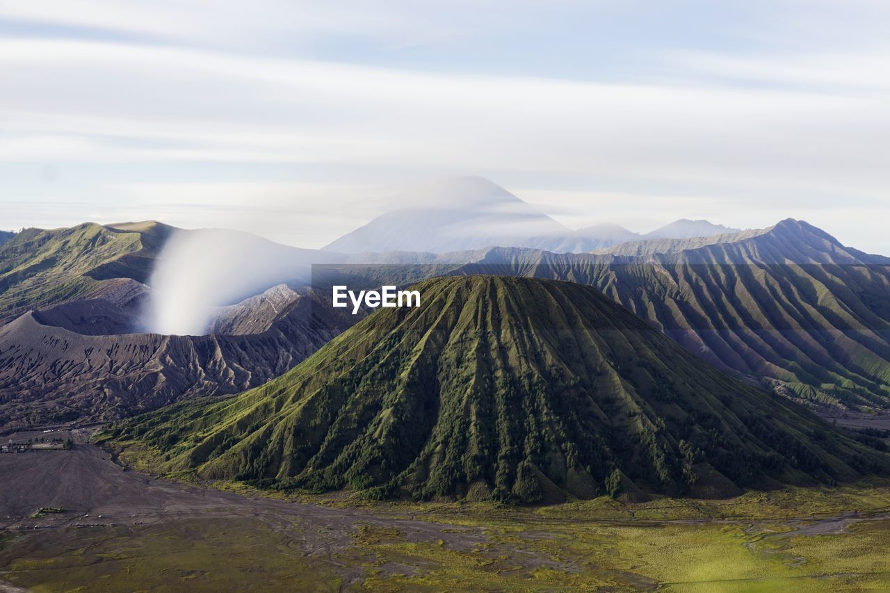 Steam Coming Out From Volcanic Mountain